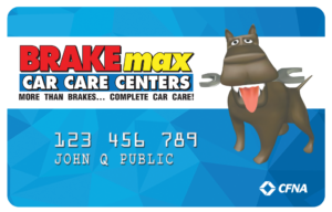 BRAKEmax CFNA Credit Card